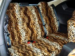Nissan Altima Gold Leopard Velour Rear Seat Seat Covers