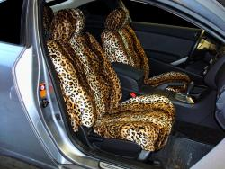 Nissan Altima Gold Leopard Velour Seat Seat Covers