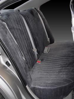 Nissan Maxima Charcoal Madrid Rear Seat Seat Covers