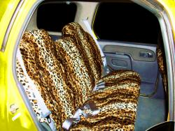 Nissan Xterra Gold Leopard Velour Rear Seat Seat Covers
