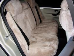 Saab 93 Taupe Genuine Sheepskin Rear Seat Seat Covers