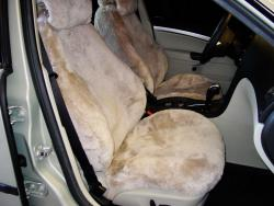 Saab 93 Taupe Genuine Sheepskin Seat Seat Covers
