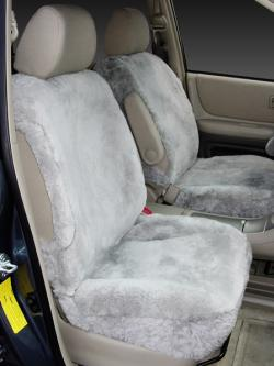 Toyota Highlander Silver Sheepskin Seat Seat Covers
