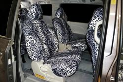 Toyota Sienna Leopard Velour Charcoal Mid Seat Seat Covers