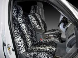 Toyota Tacoma Grey Leopard Velour Seat Seat Covers