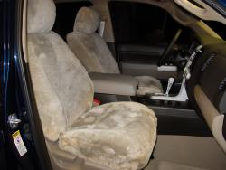 Toyota Tundra Taupe Genuine Sheepskin Seat Seat Covers