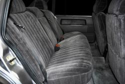 Volvo 940 Charcoal Vel Quilt Rear Seat Seat Covers