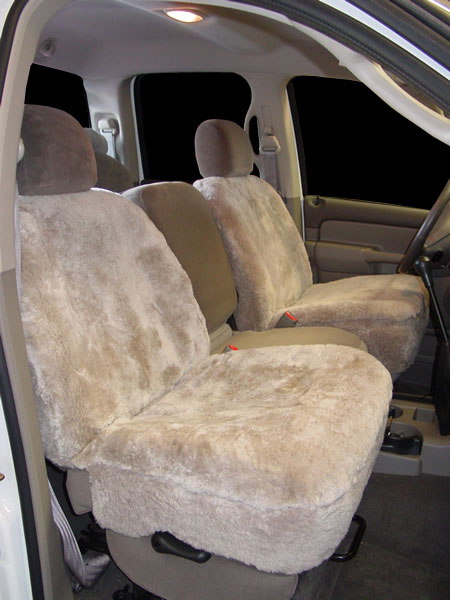 2004 Dodge 2500 Taupe Sheepskin