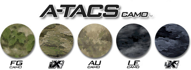 Camouflage A-Tacs swatches
