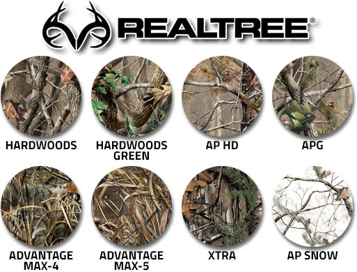 Camouflage Realtree swatches
