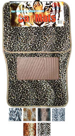 Animal Print Floor Mats, Universal Fit
